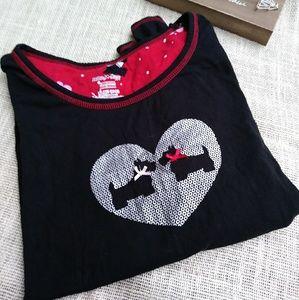 Scotty dog night shirt long sleeved XL